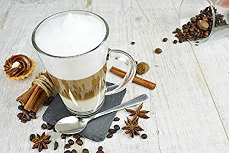 Sendez 6 Latte Macchiato Gläser 300ml mit Henkel und 6 ...